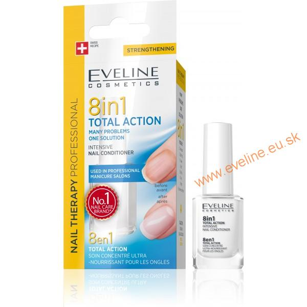 EVELINE lak na nechty 8v1 TOTAL ACTION multipack 10 ks