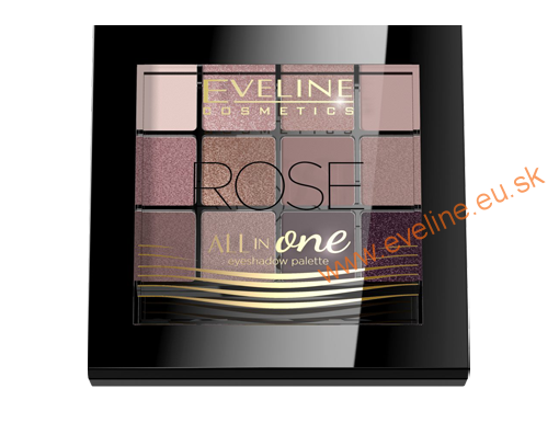 EVELINE paleta očných tieňov All in One set 02  ROSE