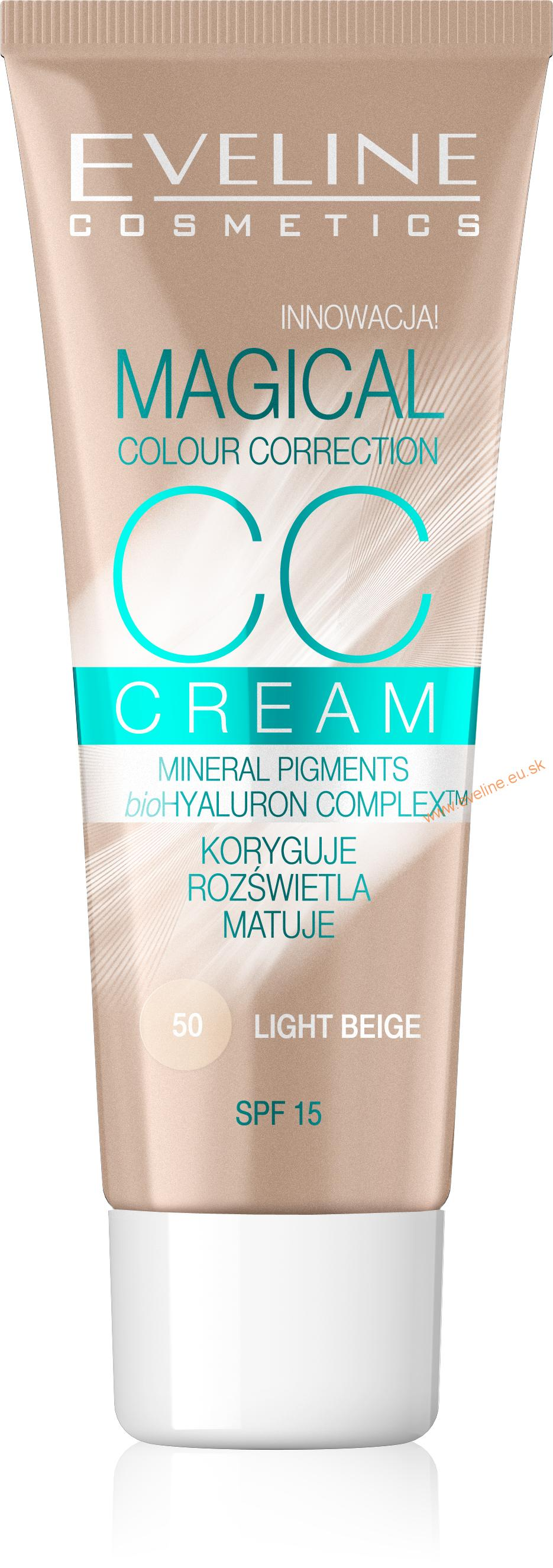 EVELINE MAKE UP - Magical CC Krém 50 light beige