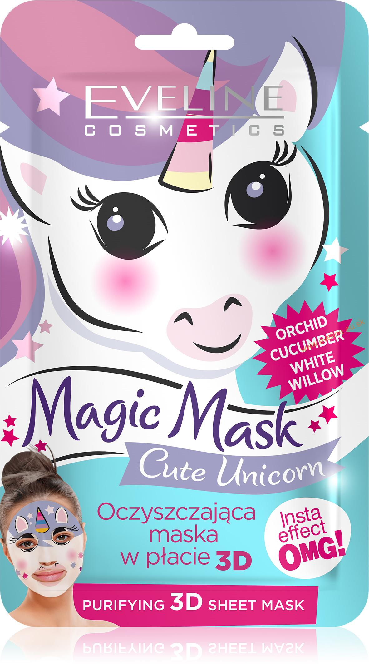 EVELINE Magic Mask čistiaca látková maska Cute Unicorn