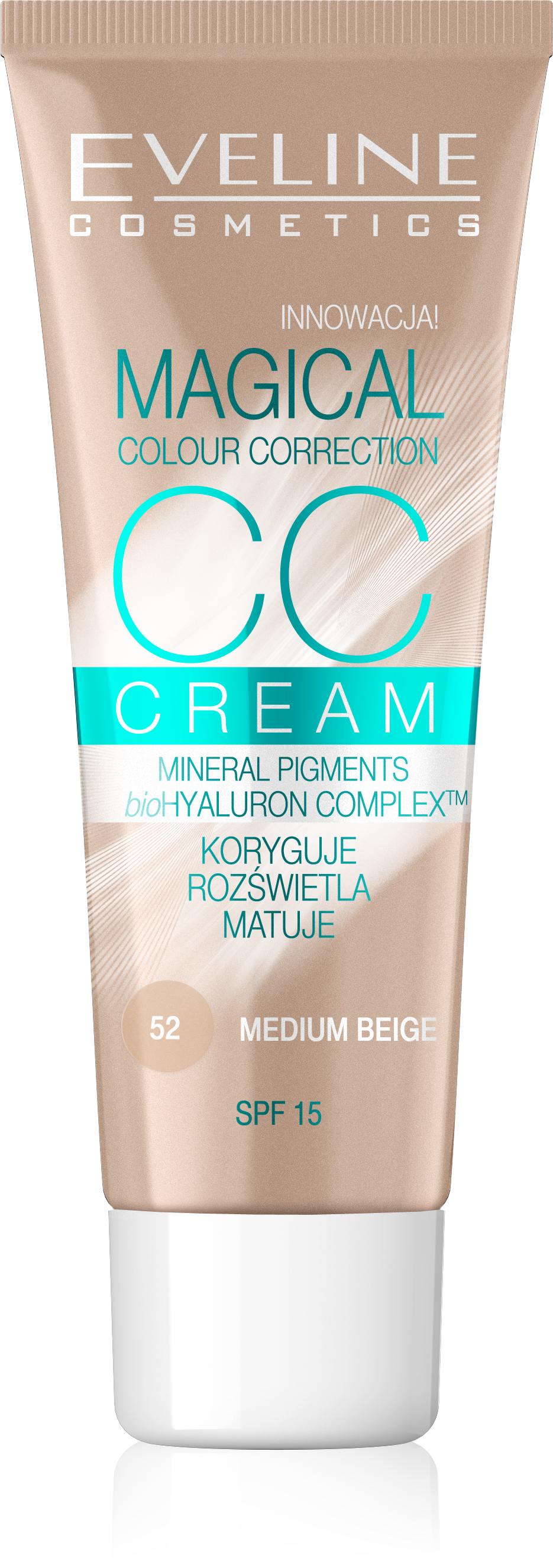 EVELINE MAKE UP - Magical CC Krém 52 medium beige