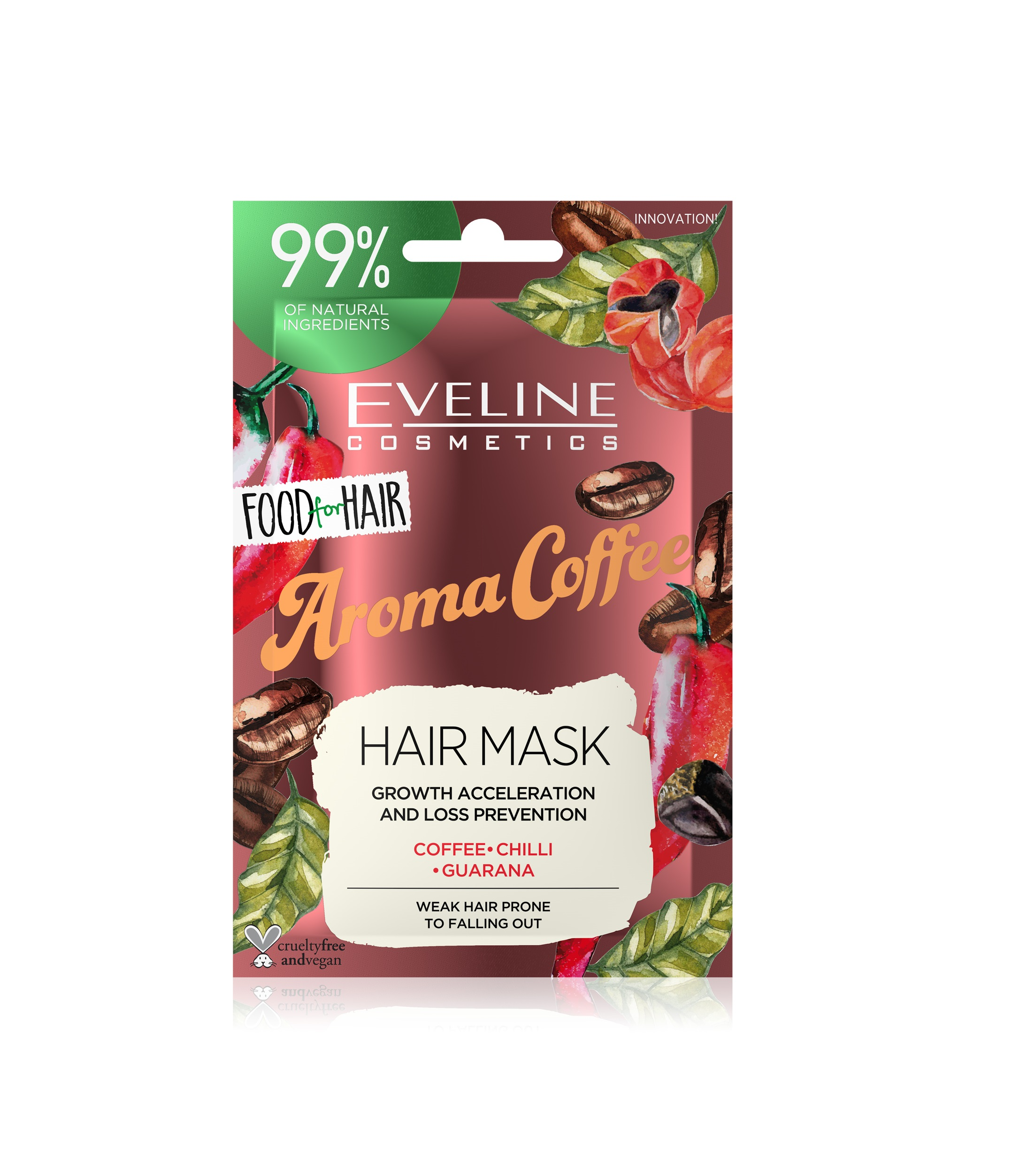 EVELINE Food for hair Aroma Coffee regeneračná maska na vlasy