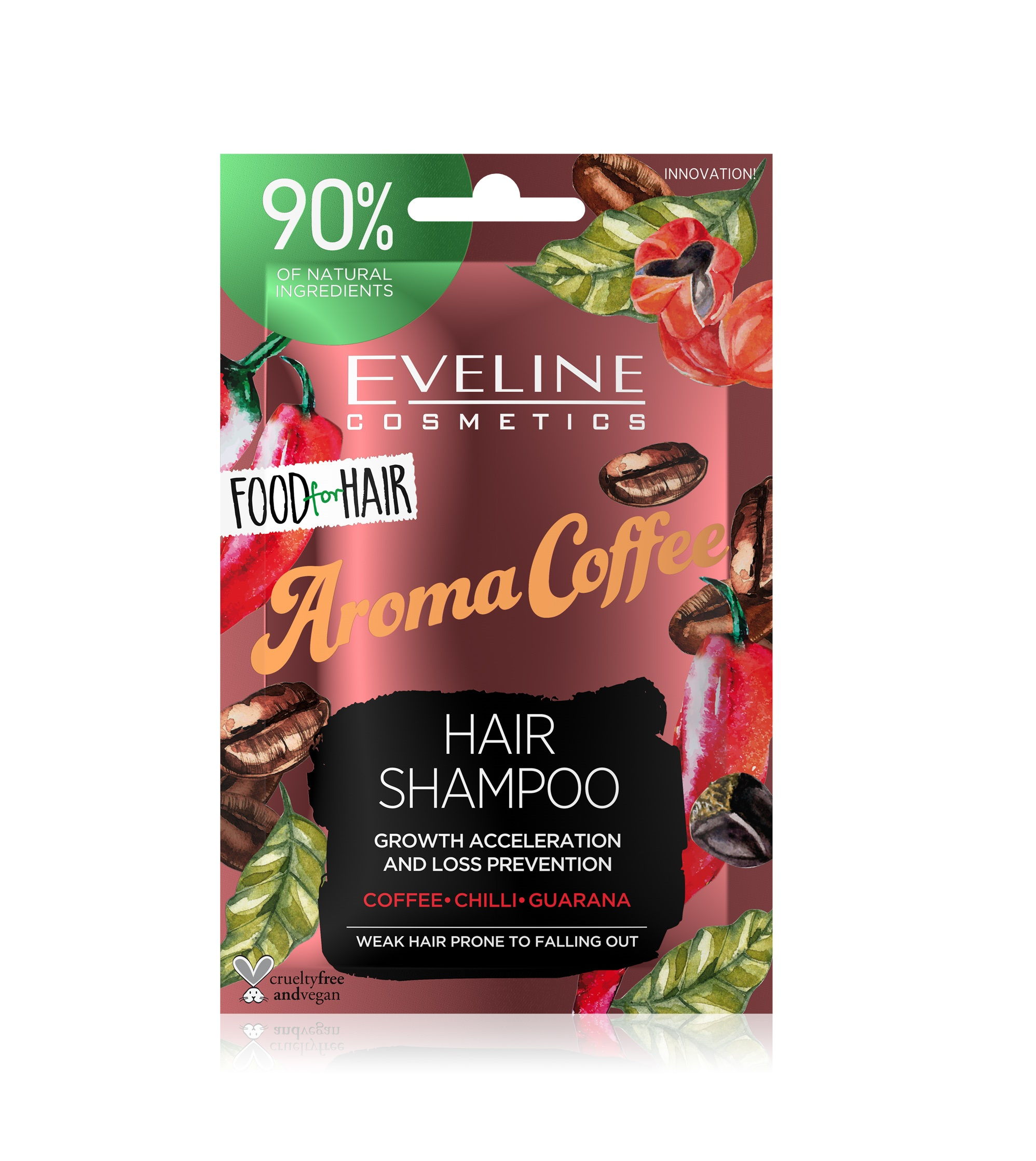 EVELINE Food for Hair Aroma Coffee regeneračný šampón na vlasy