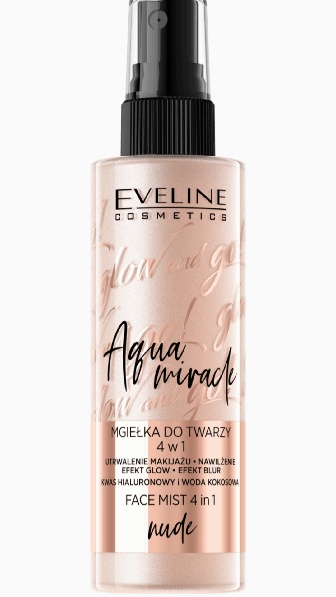 EVELINE Glow and Go! Aqua Miracle FACE & BODY MIST hmla na tvár a telo NUDE