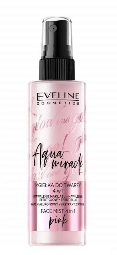 EVELINE Glow and Go! Aqua Miracle FACE & BODY MIST hmla na tvár a telo PINK