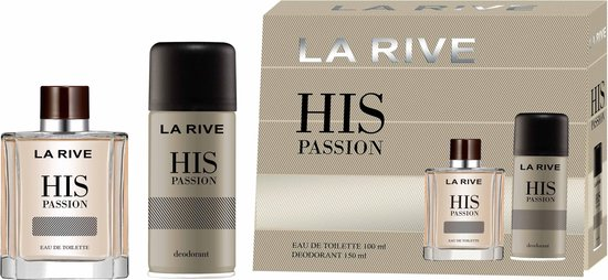 La Rive Men His Passion toaletná voda + deo SET